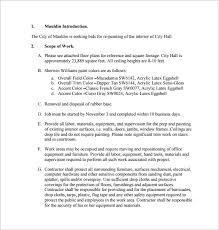 free painting bid proposal template