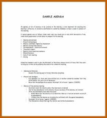 sample agenda 2 3 sample agenda template resumesheets