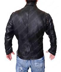 mens studded black motorcycle leather jacket