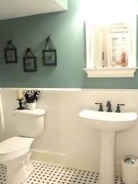 exquisite white and green half painted bathroom wall decor idea