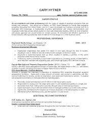 Resume Asset Management Resume