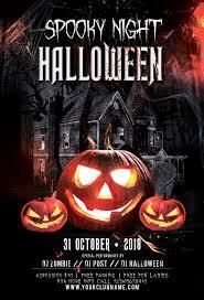 Costume Contest Flyer Template 003 Spooky Night Halloween Psd Flyer Template Min Ideas