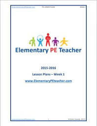 Elementary P.e. Lesson Plans. Some Of These Are Pretty Good; They're ...