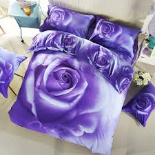 papa mima purple rose flowers bedding set queen size duvet cover set bedsheet quilt cover 3d cotton pillowcase fairy bedding bedding from hymen