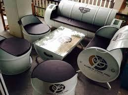 drum furniture. 7 Furniture Keren Dan Unik Ini Terbuat Dari Limbah Drum Bekas Loh.