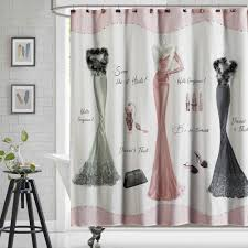 ds bath haute pink shower curtain mildew resistant shower curtain print shower curtains for bathroom cute bathroom curtains waterproof polyester fabric