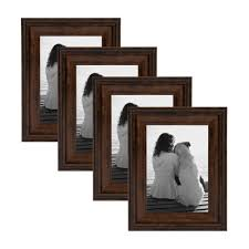 martinez 5 in x 7 in matted to 3 5 in x 5 in bronze picture frame set of 4