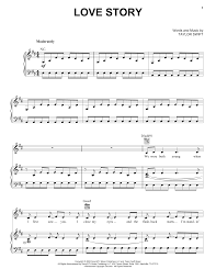 The arrangement code for the composition is pv. Love Story Piano Vocal Guitar Right Hand Melody Sheet Music