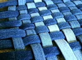 denim blue wool rug jean