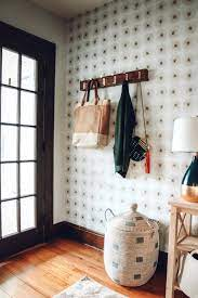 Entry Makeover with Removable Wallpaper ...