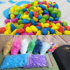 details about 50g bag colorful sand pebbles gravel aquarium fish tank home decor supplies diy