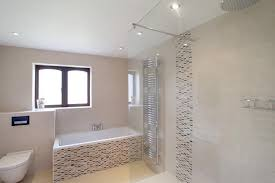 Beige Tiled Bathrooms Minimalist