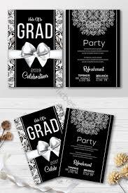 Elegant Graduation Announcements Elegant Graduation Announcement Invitations In Grayscale