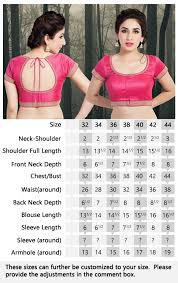 Indian Blouse Size Chart How To Measure Blouse Size Foto Blouse And Pocket