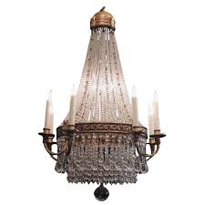 early 20th c french empire style crystal chandelier for