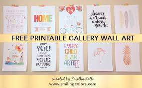 bring color and inspiration to your space with these free printable gallery wall art s spruce up an empty wall in your house in just three simple