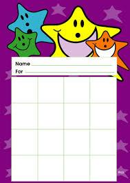 Star Reward Charts Pack