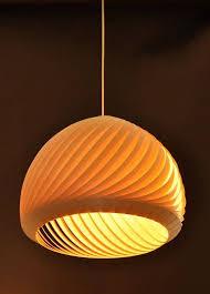 15 photo of wood veneer lighting pendants