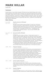 Software Qa Manager Resumes Quality Assurance Manager Resume Templates Manager