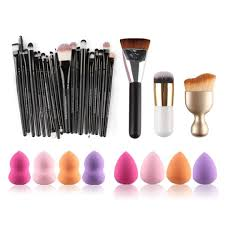 Hunputa 31PCS Cosmetic Makeup Brush Sponge Foundation Makeup Brush Powder  Puff Brush (as the picture show). Quantity:31PCS/Set. Brushe is made of  quality ...
