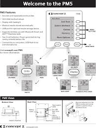 Pm5 Performancer Monitor User Manual Manual Concept Ii