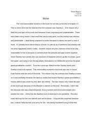 holes documents course hero essay on holes