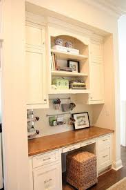 White Wood Office Nook Traditional Home Office Other