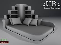corner bed furniture.  Furniture Art Deco Corner Bed Full Perm Mesh With Furniture R