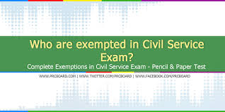 Civil Service Exam Application Form Best Who Are Exempted In Civil Service Exam CSE Complete Exemptions