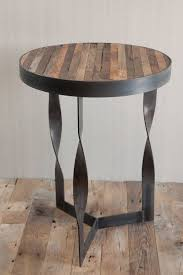 steel furniture designs. twisted steel reclaimed wood side table very lovely and unique visit stonecountyironworkscom furniture designs t