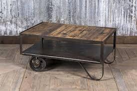 industrial coffee trolley table