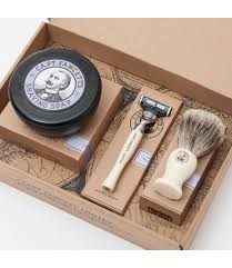 captain fawcett shaving brush razor shaving soap gift set