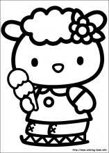 <b>Hello Kitty</b> coloring pages on Coloring-Book.info