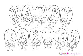 Happy Easter Coloring Pages Hello Kitty Page Free Printable 1060