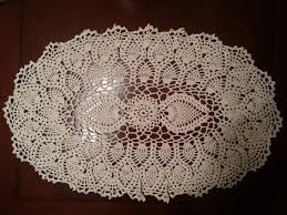 Oval Crochet Doily Patterns Free Awesome Crochet Doily Oval Pineapple Doily Part 48 YouTube