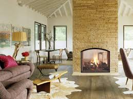 ... Stunning Fireplace Ideas To Steal Two Sided Design Modern Stone Decor  Full Size