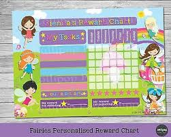 Activity Chart Kids Fairy Personalised Reward Chart Behaviour Chore Kids Activity Chart Potty Ebay