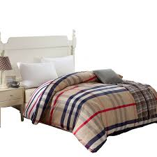 100 cotton duvet cover twin full queen king size blue striped cartoon red plaid gray quilt cover red duvet covers king size in duvet cover from home
