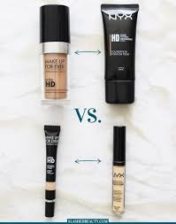 check out my parison between the nyx hd foundatino and concealer and the make up for ever ultra hd foundation and