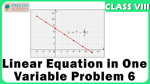 linear equation in one variable problem 6 equation maths class 8 viii isce cbse