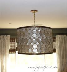 How To Make A Drum Pendant Light Diy Hanging Drum Light Fixture The Blissful Bee