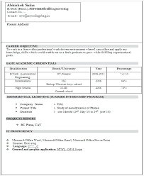 Resume Models For Freshers Resume Pattern For Freshers Freshers ...