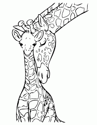 Small Picture Baby Giraffe With Mommy Coloring Page H M Coloring Pages