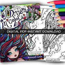 pdf i dream in color inspirational journey coloring book instant