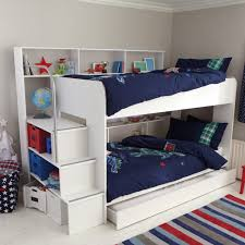 Image of: White Loft Bed With Storage Ideas