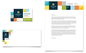 Advertising Company Business Card Letterhead Template Design