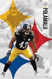 Pitsburgh Troy Nfl Steelers Logo Posters Steelers Pittsburgh Polamalu