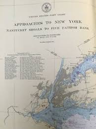 Details About 1947 U S Coast And Geodetic Survey Chart Map Approaches To New York