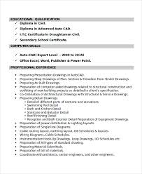 Mechanical Autocad Draftsman Resume