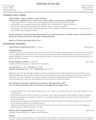 Bar Membership On Resume